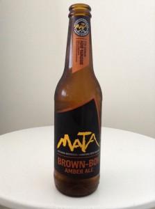 Mata brewery brown boy amber ale