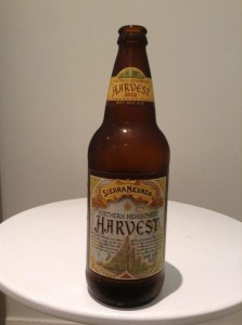 Sierra Nevada northern hemisphere harvest wet hop ale